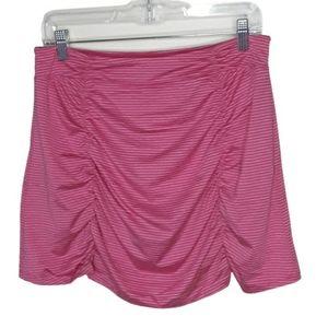 SOYBU pink striped golf/tennis sporty skort, M